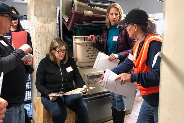 Group training on shelter protocols