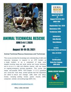 Flyer for Animal Rescue Technician